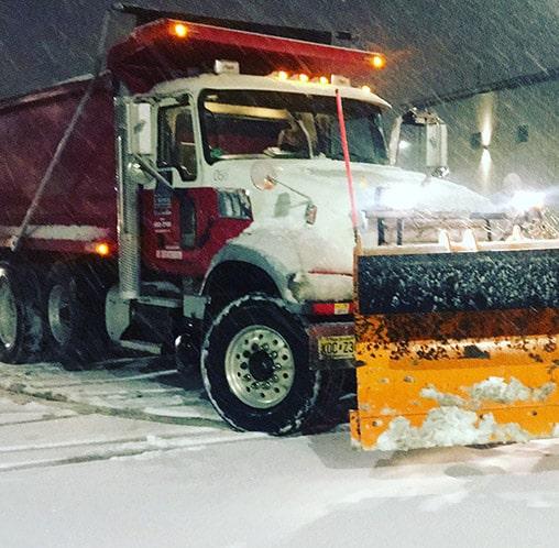 snowplow plowing road